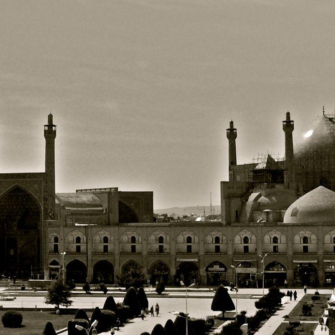 isfahan square B&W IRAN