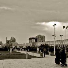 piazza isfahan b&W IRAN