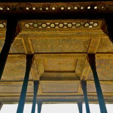 soffitto Chelo Sotun colonne Esfahan IRAN