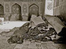 carpets Mosque Isfahan IRAN