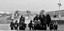 school children Isfahan square IRAN